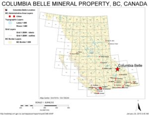 Columbia Belle - location map