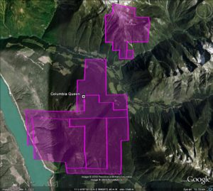 Columbia Queen - google earth image