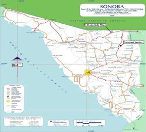 El Oroito - Sonora-Map-Location