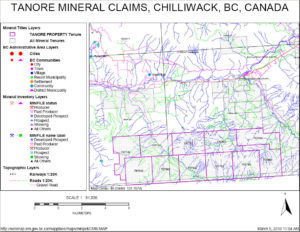 Tanore Property - mineral-claim-map