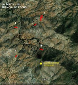 La Sarita - 2011 TRENCH LOCATIONS