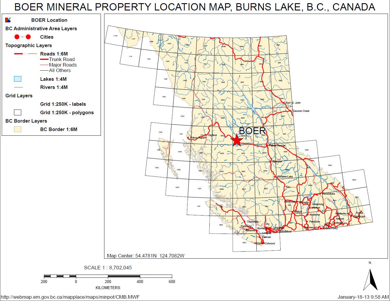 Boer-Property-location-map