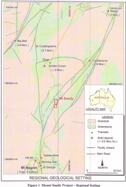 Mount Sandy Gold Project - MineListings com