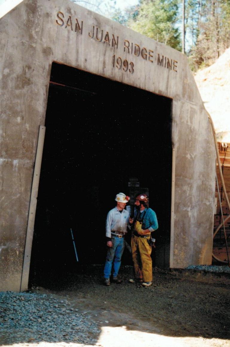 San Juan Ridge Gold Mine - Entrance