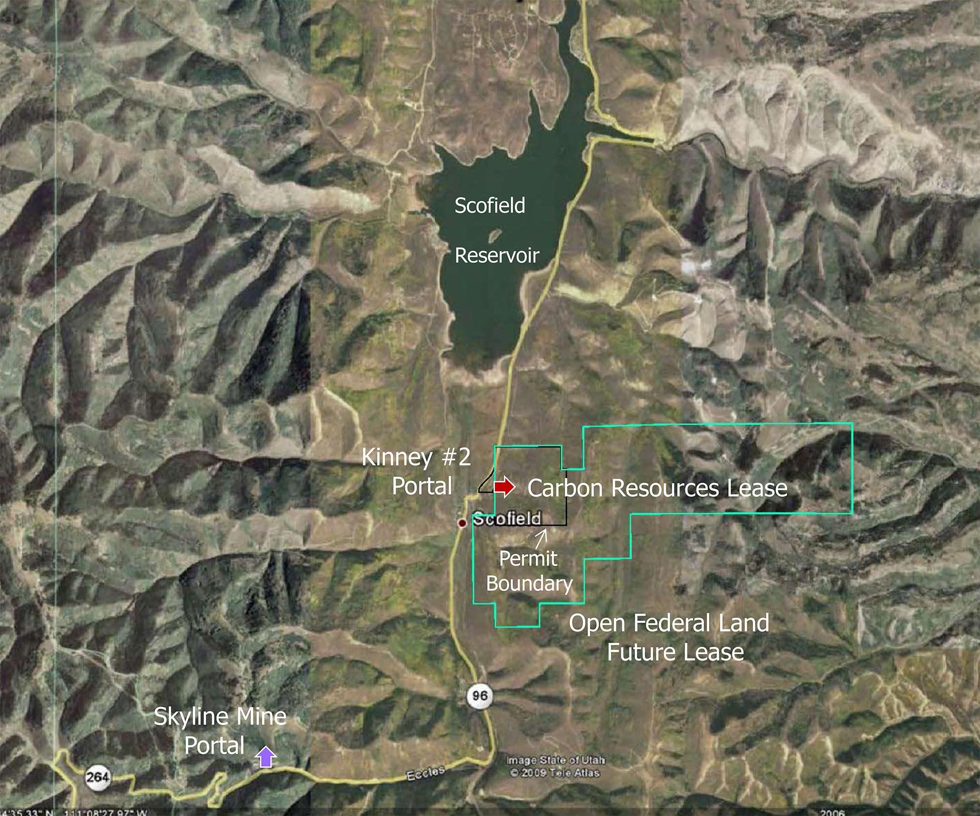 College Of Eastern Utah >> Scofield Area & Kinney #2 Coal (Permitted) - MineListings.com